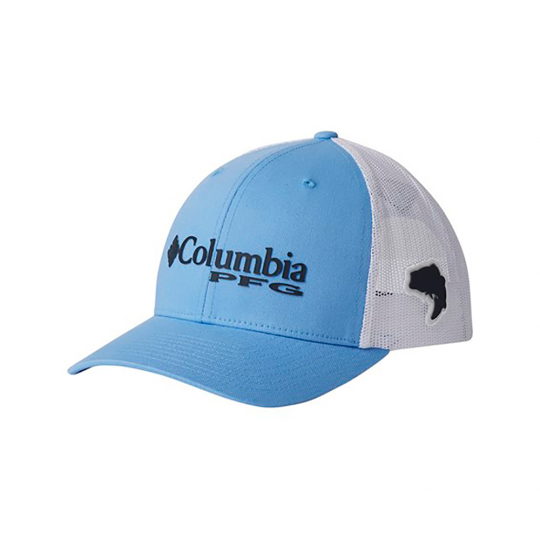 Boné columbia pfg mesh snap back white bass
