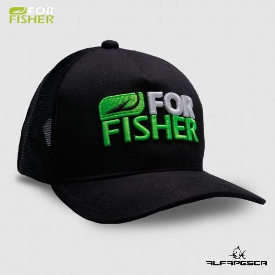 Boné for fisher preto