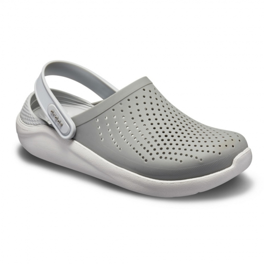 Calçado Crocs Literide Clog Smoke Pearl White