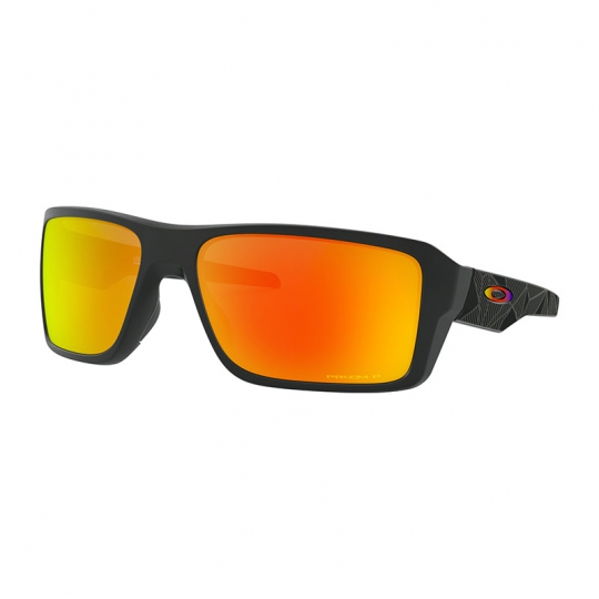 Oculos oakley double edge matte black prizmatic prizm ruby polarizado