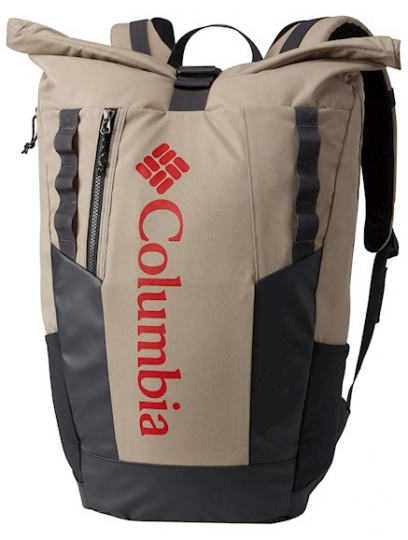 Mochila columbia convey rolltop daypack 25 l tusk red spark