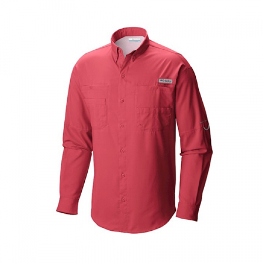 Camisa columbia m-l tamiami ii 683-sunset red