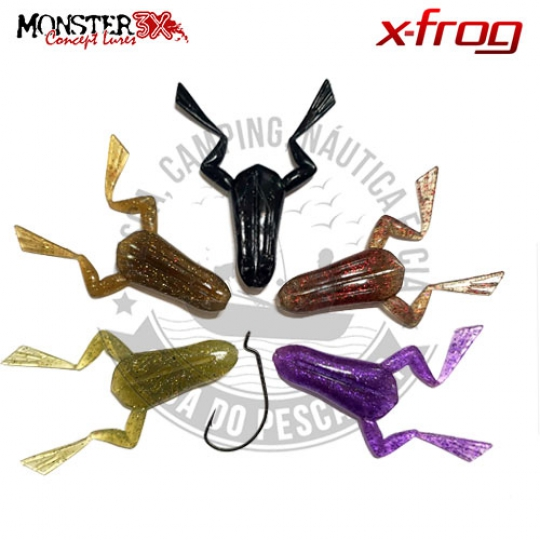 Kit traira sapo m3x x-frog + anzol offset