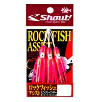 Suporte hook shout 305rp rock fish assist pink