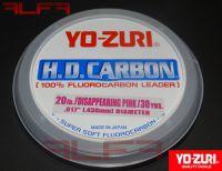 Linha fluorcarbon leader yo-zuri rosa (pink)