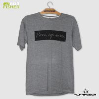 Camiseta for fisher pesco logo existo cinza