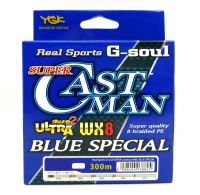 LINHA MULTI YGK REAL SPORTS G-SOUL SUPER CASTMAN 300 M BLUE SPECIAL