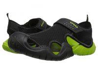 Crocs swiftwater sandal black-volt green