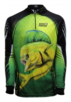 Camiseta rkf action fish 50 uv dourado do mar