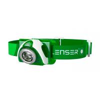Lanterna de cabeça led lenser seo 3 green