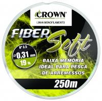 Linha crown fiber soft yellow 250 m