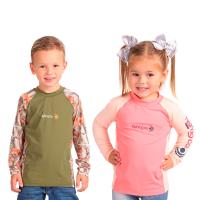 Camiseta infantil fishing co. recorte