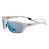 Óculos oakley split shot polished white prizm deep h2o polarized