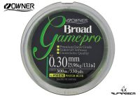 LINHA MONOFILAMENTO OWNER BROAD GAME PRO VERDE 300M