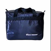 Bolsa térmica bag freezer nylon 39l nylon azul