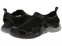 Crocs swiftwater sandal black charcoal
