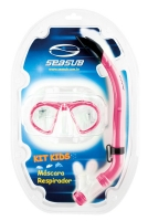 KIT DE MERGULHO SEASUB KIDS ROSA