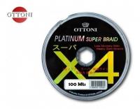 Linha ottoni platinum super braid x4 100 mts