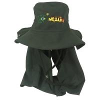 Chapéu ebf australiano micro-fibra c- proteção verde musgo