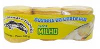 Massa cordeiros prensada 240g milho verde c- 3 und.