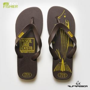 Sandália for fisher tribal dourado