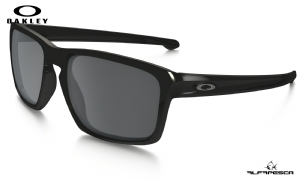 ÓCULOS OAKLEY SLIVER POLISHED BLACK - BLACK IRIDIUM POLARIZED