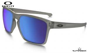 ÓCULOS OAKLEY SLIVER XL MATTE GREY INK - SAPPHIRE IRIDIUM POLARIZED