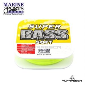 Linha monofilamento super bass soft 250 m marine sports