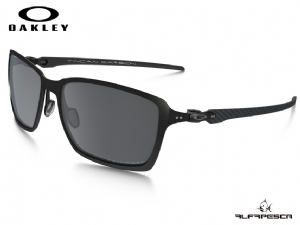 ÓCULOS OAKLEY TINCAN CARBON SATIN BLACK - BLACK IRIDIUM POLARIZED