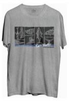 Camiseta faca na rede casual tam. p cinza salt water