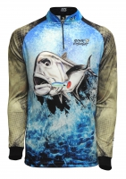 Camiseta rkf action fish 50 uv xaréu
